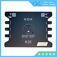 Soundcard XOX K10 10th Jubilee phiên bản tiếng Anh 2021 chuyên hát Thu âm, Livestream Bigo, Facebook thumbnail