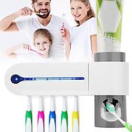 Kệ bàn chải đánh răng nhả kem tự động có hệ thống KHỬ TRÙNG BẰNG TIA UV thumbnail