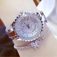Đồng hồ nữ đính đá pha lê cao cấp (Trắng) thumbnail