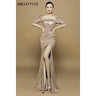 Đầm Maxi body kim sa cổ vuông tay lỡ xoắn eo - MS147Y thumbnail