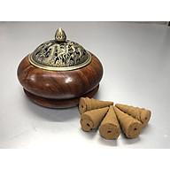 Lư Xông Trầm bằng gỗ hương ( tặng kèm 5 nụ trầm tháp sạch) KH12704 thumbnail