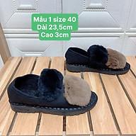 TL2 Thanh lý 2 giày bốt lót lông thời trang giày boots độn đế cao giày dép nữ thumbnail