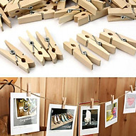 Combo 100 kẹp gỗ + 20m dây thừng treo ảnh thumbnail
