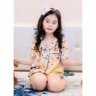 Bộ Pijama lụa cho bé gái hình hoa lá thumbnail