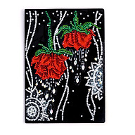 50 Pages Rose Pattern Diamond Painting Notebook DIY Special Shaped Embroidery A5 Notebook Diary Book thumbnail