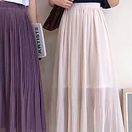 (Có sẵn) Chân váy dập li dáng midi hàn quốc thumbnail