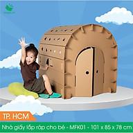 MFK01 - 100x84x78 cm - Nhà giấy carton lắp ráp cho bé thumbnail