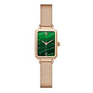 Đồng hồ nữ mặt chữ nhật dây da, dây kim loại cao cấp mặt kính chống xước, chống nước NT02 thumbnail