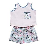Set Áo Cam Nhạt Và Quần Hoa Pastel Bé Gái CucKeo Kids T31927 thumbnail