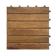 Bộ 50 tấm ván gỗ lót sàn 6 nan - nâu đỏ thumbnail