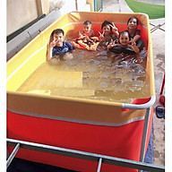 Bể bơi mini 1.6 x 2.2 x 0.8m cho bé bể bơi khung kim loại thumbnail