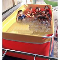 Bể bơi mini 2.2m x 2.2 x 0.8m cho bé bể bơi khung kim loại, bể bơi lắp ghép tại nhà thumbnail