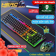 Bộ Bàn Phím Và Chuột Chơi Game Có 10 Chế Độ Led Khác Nhau XSmart T6RGB Super PRO 2021 Tương Thích Máy Tính PC Laptop - Hàng Chính Hãng thumbnail