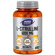 L-Citrulline, Extra Strength 1200mg Tăng cường chuyển hóa Protein và loại bỏ Amoniac trong cơ thể (120 Viên) thumbnail