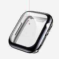 Ốp Case TPU Mạ Chrome & Kính Cường Lực Dẻo cho Apple Watch Series 6 Apple Watch Series 5 SE 4 Size 40 44mm_ Hàng Chính Hãng thumbnail