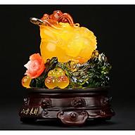 Thiềm Thừ Ngậm Tiền Chiêu Tài Hút Lộc - Cóc hồ lô vàng 18cm thumbnail