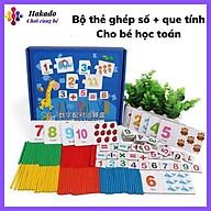 Đồ chơi Bộ Thẻ Ghép Số Và Các Phép Tính Kèm Que Tính Giúp Bé Học Toán thumbnail