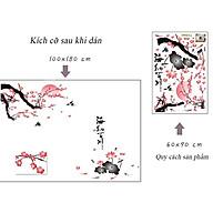 Decal dán tường trang trí Tết, quán cafe, phòng khách- Đào cổ-Mã DAY897 thumbnail