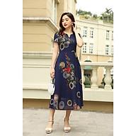 Váy trung niên LYBEE chất voan tơ thoáng mát đầm trung tuổi cho mẹ mã 584 thumbnail
