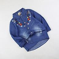 Sơ mi tay dài thêu hoa Quảng Châu cho bé gái 01183 thumbnail