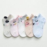 Set 5 đôi vớ lưới ren mùa hè cho bé 6 - 24 tháng tuổi thumbnail