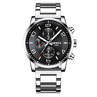 Đồng hồ thời trang công sở nam NIBOSI chính hãng NI2328.04 fullbox, chống nước - Chạy full 6 kim, mặt kính Mineral, dây hợp kim cao cấp không gỉ thumbnail