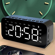 VINETTEAM Loa Bluetooth Mặt Gương Kiêm Đồng Hồ Báo Thức P6 Màn Hình Led Tích Hợp Thẻ SD FM AUX Đo Nhiệt Độ - Hàng Chính Hãng thumbnail