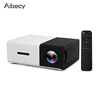 Aibecy YG300 Mini Portable LED Projector Support 1080P 3D Visual Effects 800 Lumens Multimedia Video Movie Projector thumbnail