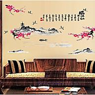 Decal dán tường đào đỏ phong thủy sk9132 thumbnail