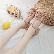 908 Giày sandal phối đính dá nữ 5phan - Giày cao gót siêu hot, êm chân, nhiều màu, mẫu mới thumbnail