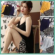 Bộ Đồ Ngủ Nữ 2 Dây Bộ mặc Nhà Nữ Hè Chất Cotton Đẹp (Có Miếng Lót Ngực) thumbnail