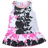 Đầm Đuôi Cá Bé Gái Hoa Hồng Đen Cổ Sọc Xếp Ply Cuckeo Kids T51908 thumbnail