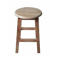 Ghế gỗ cao su cao 45cm AS1016 thumbnail