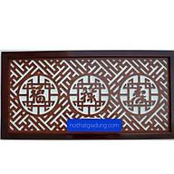 Tấm Ám Khói Bàn Thờ chữ PHÚC - LỘC - THỌ viết bằng tiếng Hán thumbnail