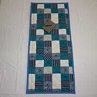 Nệm Ngủ Trưa Văn Phòng HOÀNG THIÊN HÀ - Mẫu ô vuông caro trắng xanh - 100% vải coton thoáng mát, mềm mại, thấm hút mồ hôi. Giặt được bằng máy. Dể gấp gọn - Có túi đựng riêng. thumbnail