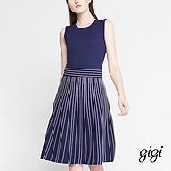 GIGI - Đầm mini cổ tròn không tay Stripe Skirt G2106202703S-30 thumbnail