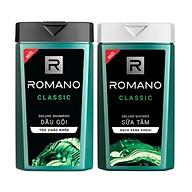 Combo Dầu gội & Sữa tắm Romano Classic cổ điển lịch lãm 380g chai thumbnail
