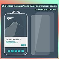Bộ 2 Miếng Kính Cường lực Gor cho Xiaomi Poco X3 Poco X3 NFC - Full Box - Gor - Hàng nhập khẩu thumbnail