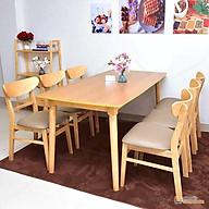Bộ bàn ăn Mango 6 ghế thumbnail