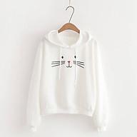 Áo Hoodie Nữ Cute Mặt Mèo Vải Nỉ Bông Êm Ái Thiết Kế Dễ Thương Đáng Yêu - MSP T29 thumbnail