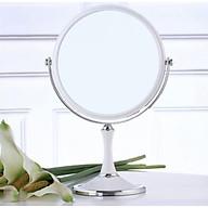 Gương Để Bàn Trang Điểm, Makeup, Làm Tóc 2 Mặt To Đường Kính 20cm thumbnail