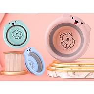 Chậu rửa mặt gấp gọn cho bé sơ sinh thumbnail