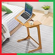 Bàn gỗ để máy tính sách vở có thể xoay nâng độ cao mặt bàn tùy ý,Giúp Ngồi sofa hay giường đều dùng được,Có mặt kê chuột hay để cốc cafe cốc nước tiện dụng - Bàn gỗ máy tính điều chỉnh mặt bàn thumbnail
