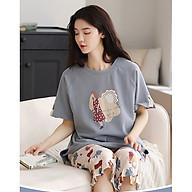 Đồ bộ mặc nhà , đồ bộ lửng nữ cotton mùa hè dễ thương 2162 thumbnail