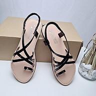 Sandal kiểu la mã dây chéo xỏ ngón đế bằng phù hợp với sinh viên, đi biển thumbnail