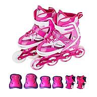 Combo giày trượt patin K600 Hồng + Bộ bảo hộ tay chân thumbnail