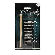 Bút calligraphy set gồm 1 thân bút tặng kèm 7 ngòi chuyên viết chữ nghệ thuật, vẽ thiệp thumbnail