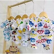 Bộ cotton giấy dài tay cho bé trai, bé gái từ sơ sinh_combo 5 bộ (giao họa tiết ngẫu nhiên) thumbnail