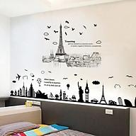 Combo 2 decal dán tường tháp Eiffel và địa danh nổi tiếng thế giới cho bé + Tặng stick bất kỳ thumbnail