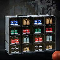 Combo 10 hộp đựng giày nhựa cứng cao cấp cửa mở nam châm có thể tháo rời được thumbnail